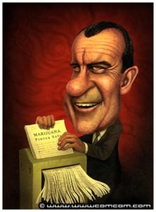 President Richard 'Tricky Dick' Milhous Nixon