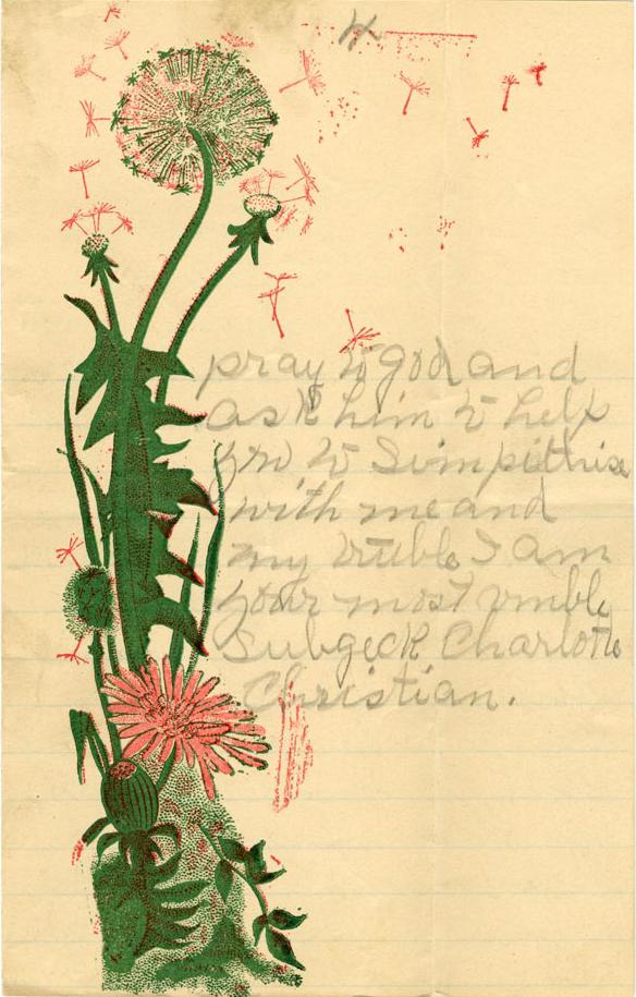 Charlotte Christian's letter