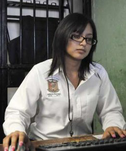 Marisol Valles García at work