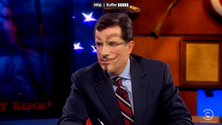 Colbert as Guy Fawkes